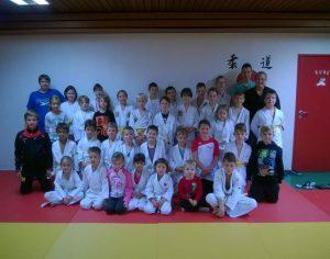 Gruppenfoto Judo Safari im Dojo Judo Club Sinzheim e.V. am 03.Oktober 2015